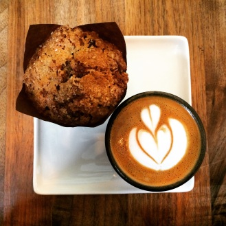 Apple muffin and cappuccino, Slipstream, Logan Circle, D.C.